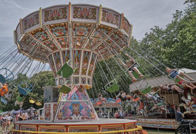Funfair at Kew Fete