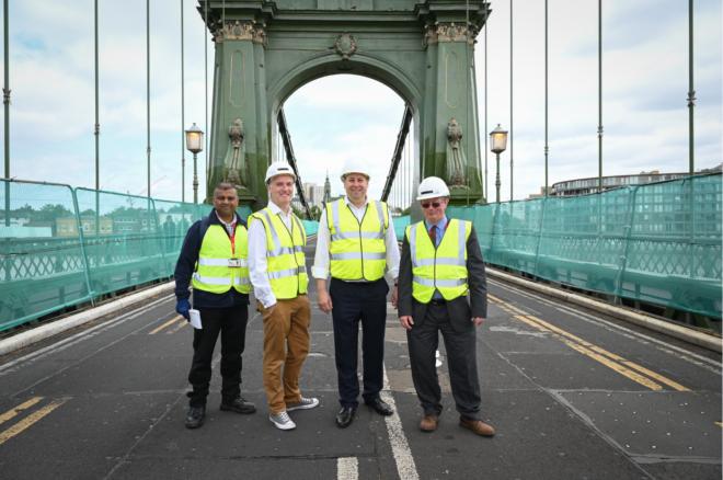 Hammersmith Bridge Works