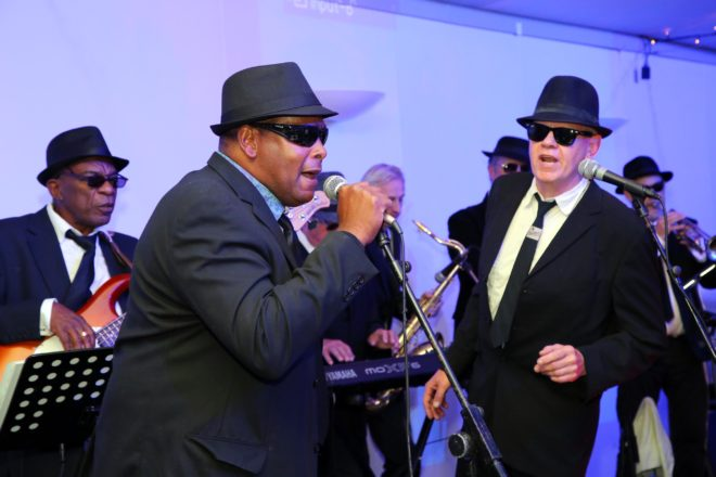 The evening had a live performance from blues band, Rawhides