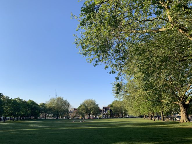 All quiet on Kew Green